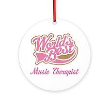 Music Therapist (World's Best) Ornament (Round)