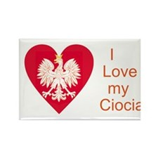 Ciocia Heart Rectangle Magnet