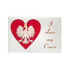 Ciocia Heart Rectangle Magnet
