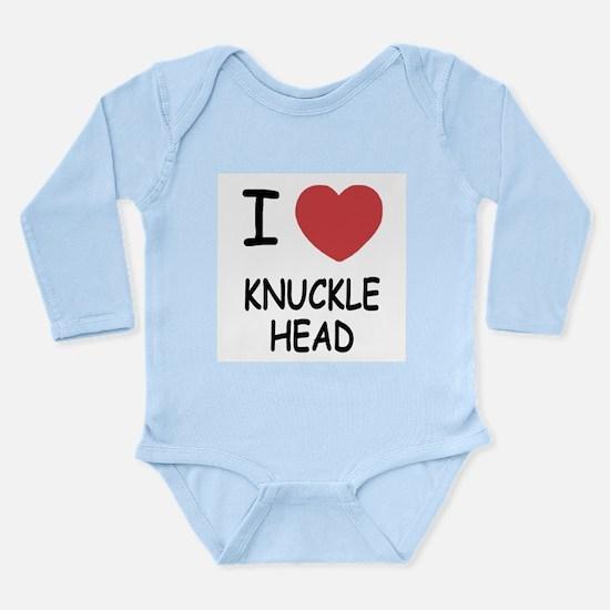 I heart knucklehead Long Sleeve Infant Bodysuit