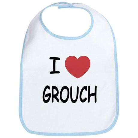 I heart grouch Bib