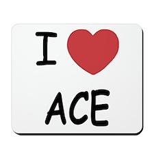 I heart ace Mousepad