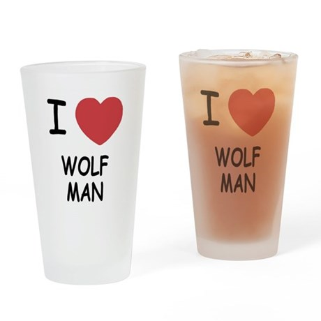 I heart wolfman Drinking Glass