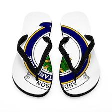 Cute Clan anderson badge Flip Flops