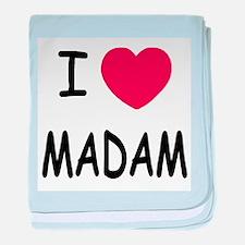 I heart madam baby blanket
