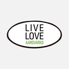 Live Love Aardvarks Patches