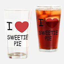 I heart sweetie pie Drinking Glass