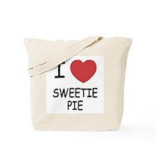 I heart sweetie pie Tote Bag