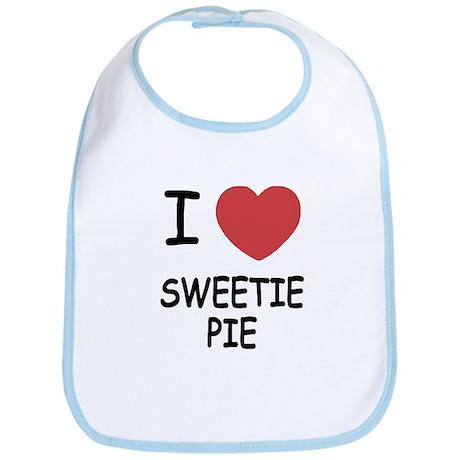 I heart sweetie pie Bib