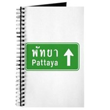 Pattaya Thailand Highway Sign Journal