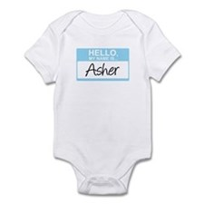 Hello, My Name is Asher - Infant Bodysuit