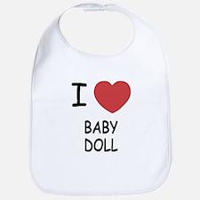 I heart baby doll Bib