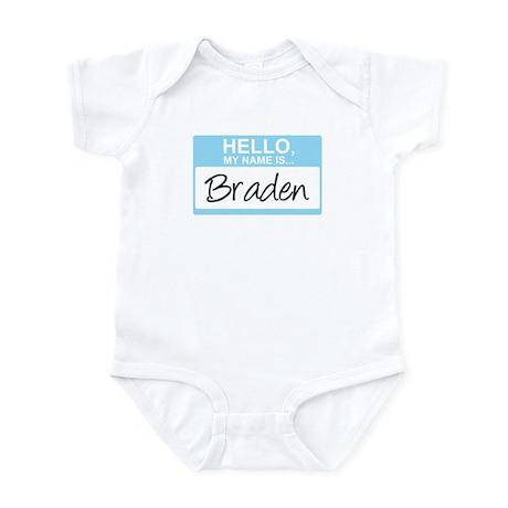 Hello, My Name is Braden - Infant Bodysuit