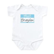 Hello, My Name is Brayden - Infant Bodysuit