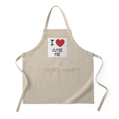 I heart cutie pie Apron