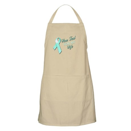 I Wear Teal for my Wife Apron