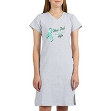 I Wear Teal for my Wife Women's Nightshirt