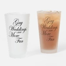Gay Wedding Drinking Glass