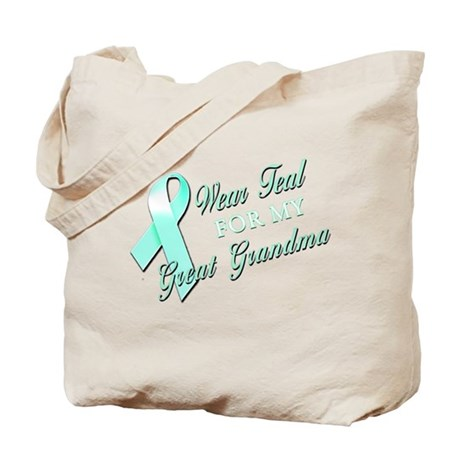 I Wear Teal for my Great Gran Tote Bag