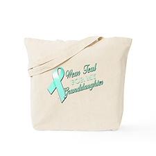 I Wear Teal for my Granddaugh Tote Bag