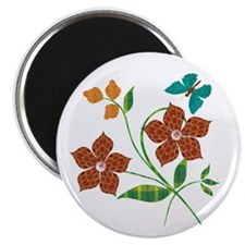 Material Flowers Magnet