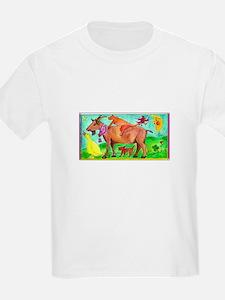 Watercolor Animals Kids T-Shirt