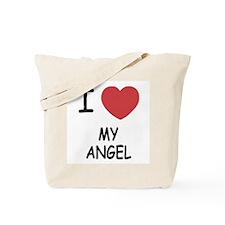 I heart my angel Tote Bag