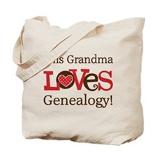 Grandma Genealogy Tote Bag