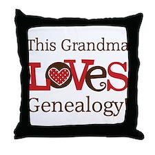 Grandma Genealogy Throw Pillow