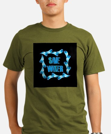 Save water graphic with water drops T-Shirt