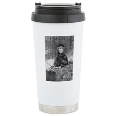 1905 Ride in the Snow Stainless Steel Travel Mug