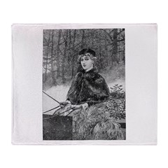 1905 Ride in the Snow Throw Blanket
