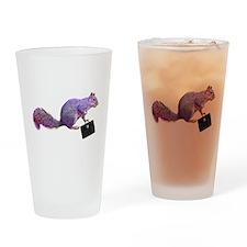 Purple Squirrel Drinking Glass