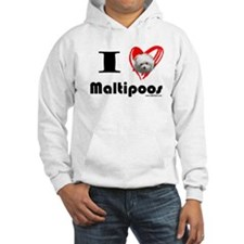 I Love Maltipoos Jumper Hoody