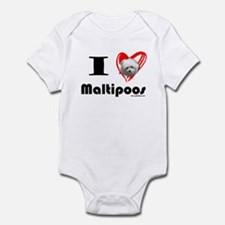 I Love Maltipoos Infant Creeper