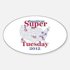 SUPER TUESDAY Sticker (Oval)