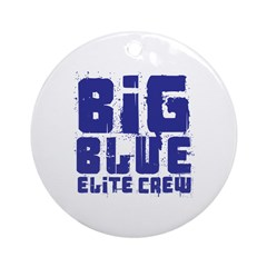 Big Blue Elite Crew Ornament (Round)