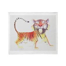Cute Tiger Throw Blanket