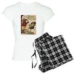 1901 Jolly Kris Kringle Women's Light Pajamas