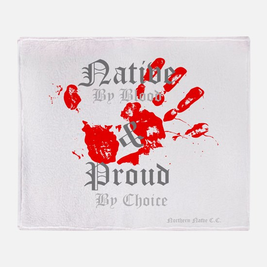 Native and Proud Throw Blanket