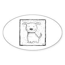 Cute Dog (b&w) Decal
