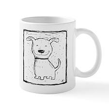 Cute Dog (b&w) Mug