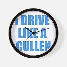 Twilight - I Drive Like A Cul Wall Clock