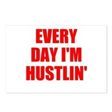 every day i'm hustlin' Postcards (Package of 8)