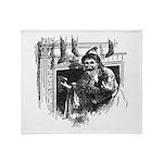 1901 Santa at the Chimney Throw Blanket