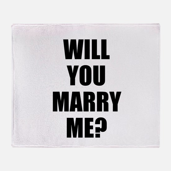 will you marry me? Throw Blanket