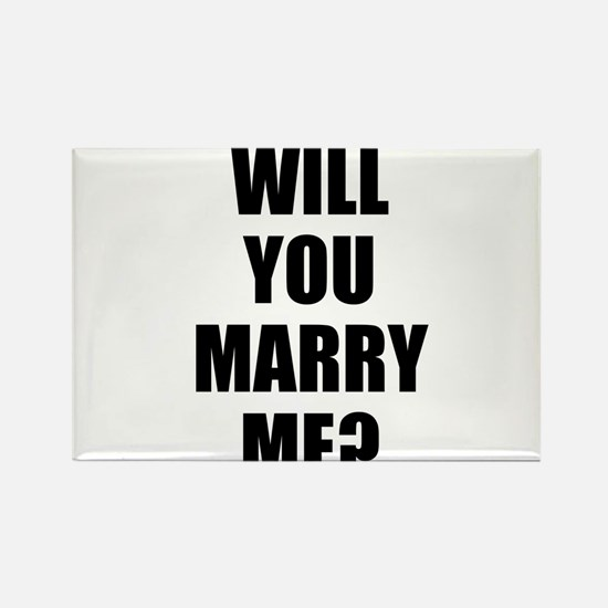 will you marry me? Rectangle Magnet