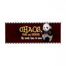Chaos Panda Aluminum License Plate