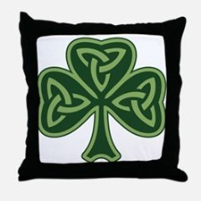 Trinity Shamrock Throw Pillow