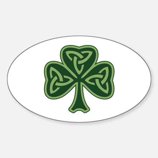 Trinity Shamrock Sticker (Oval)